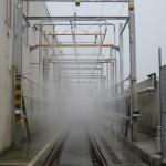Impianto test a pioggia