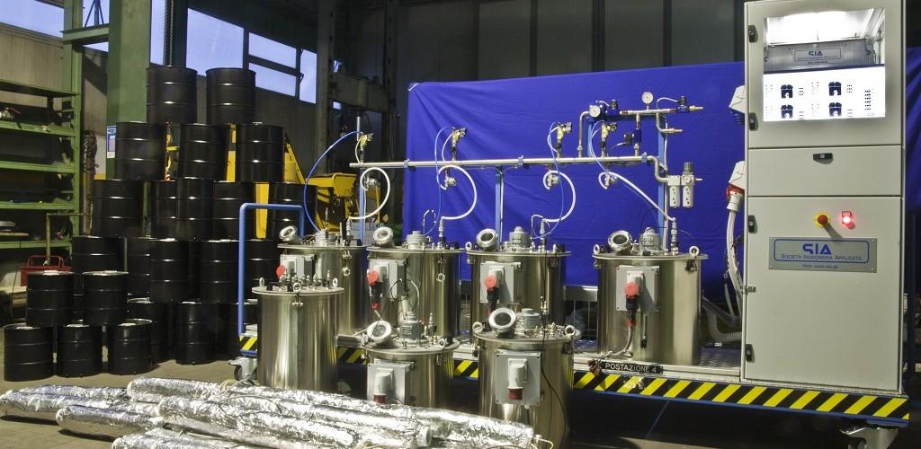 Impianto infusione resina
